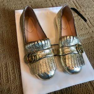 Gold Gucci Flats